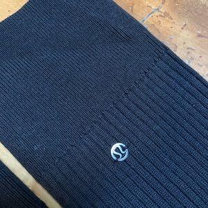Lululemon Ribbed Knit OS Black Leg Warmers